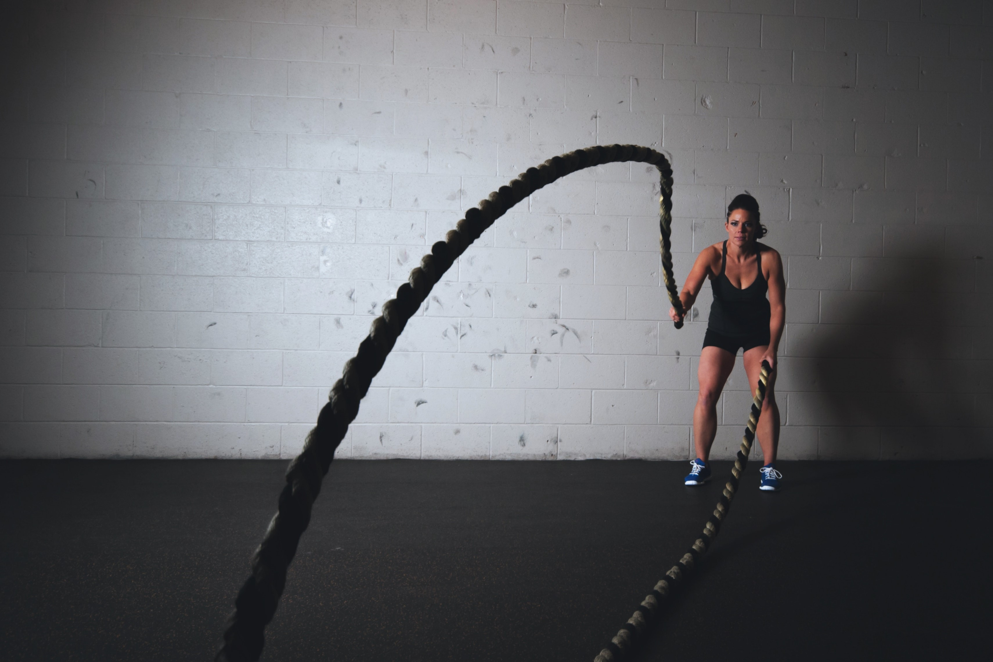 Image showing private training fitness ropes